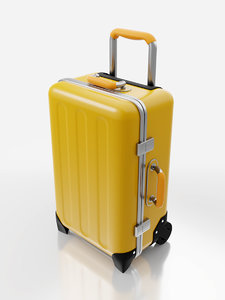 3D travel suitcase model