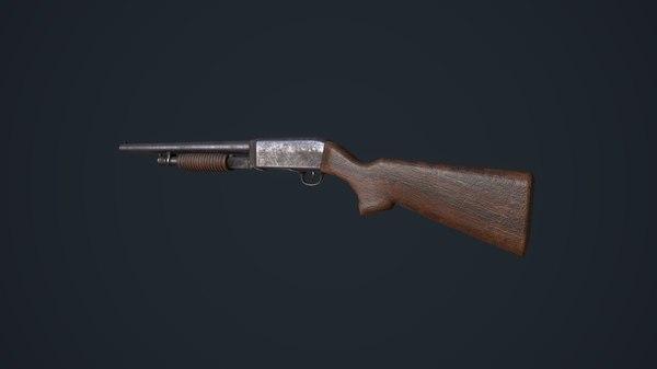 3D model shotgun games