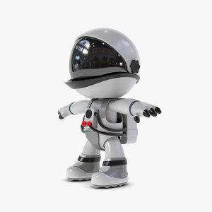 3D stylized astronaut