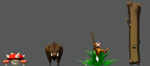 monsters ent monkey mushroom 3D