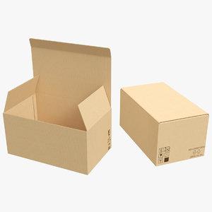 3D model cardboard boxes 01