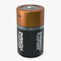 3D duracell d battery cells model