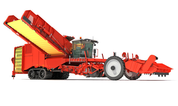 potato combine harvester 3D