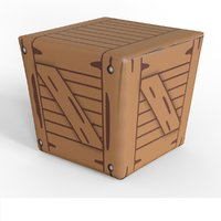 cartoon wood box model