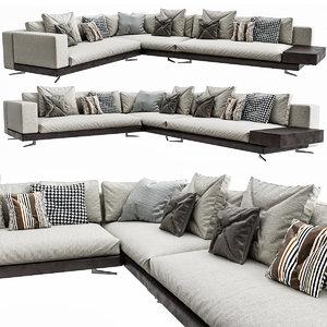3D white sofa model