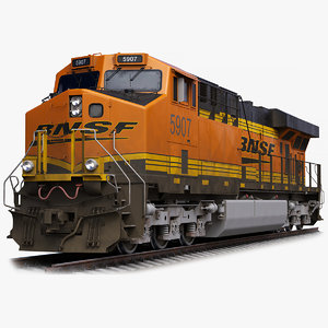 locomotive ge es44ac bnsf 3D model
