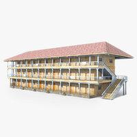 ready house slum building 3D model