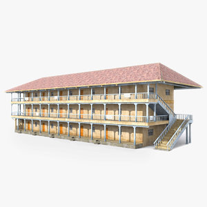 ready house slum building 3D model