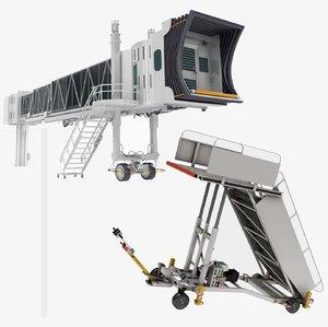 3D jet way air truck model