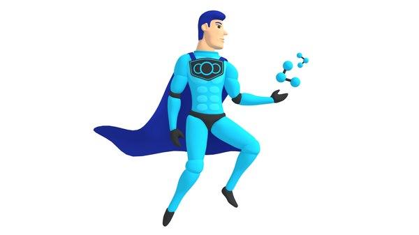 superman logo 3D