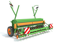 3D model seed drill agricultural
