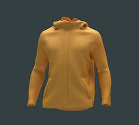 Mens Clothing Jacket Hoodie 3D model