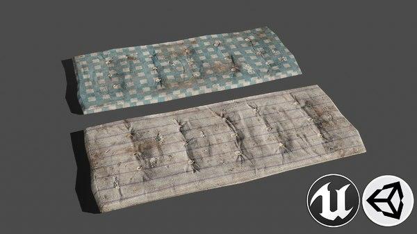 3D sleeping pbr model