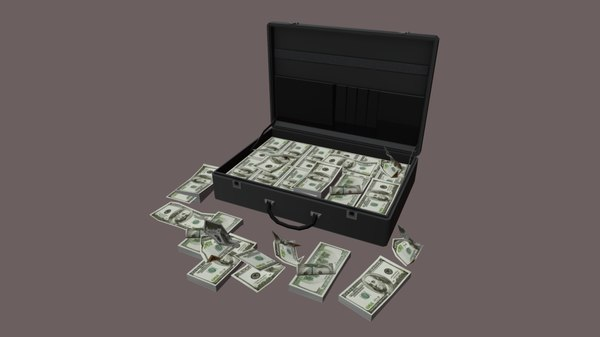 suitcase bag case money 3D model