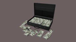 suitcase bag case money 3D model