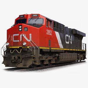 locomotive ge es44ac bnsf 3D