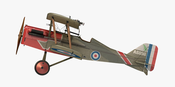 3D royal aircraft se5a fighter model