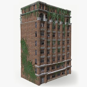 3D ready abandoned building model