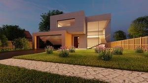 exterior design house 3D model