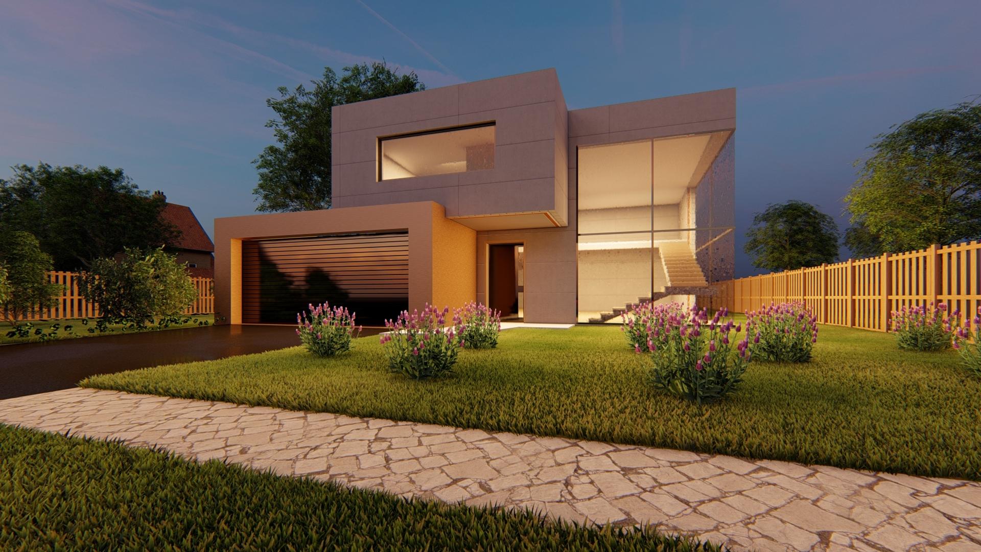 Exterior design house 3D model - TurboSquid 1422972