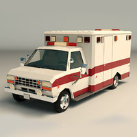 Low Poly Ambulance 02