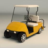 Low Poly Golf Cart