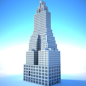 3D generic nyc style building