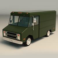 3D model van transporter