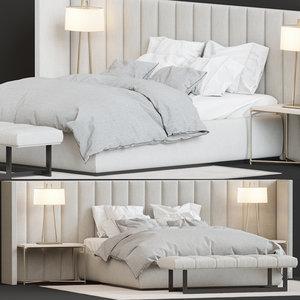 bed - provence 3D model