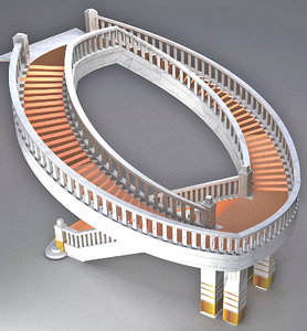 3D model stairs helical