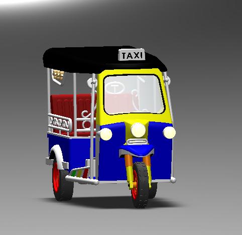 tuk 3 wheel bangkok 3D model