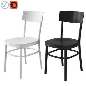 black chair ikea idolf model