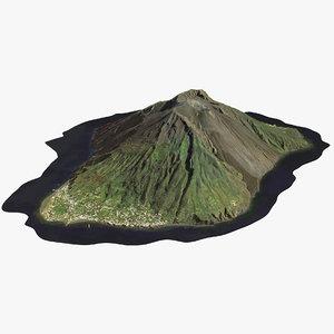stromboli volcano 3D model