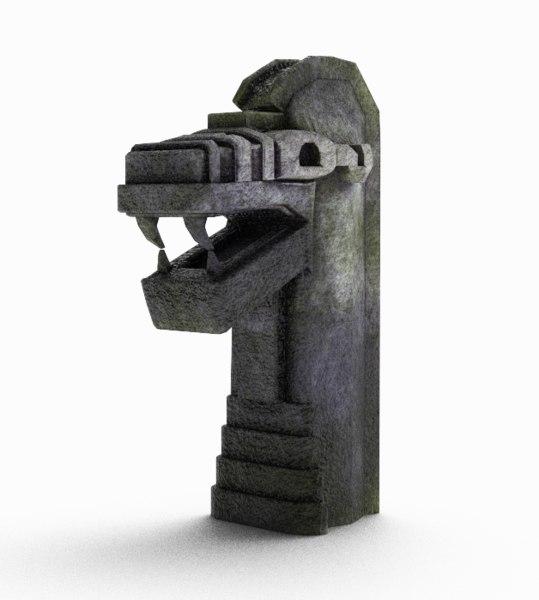 snake statue 3D