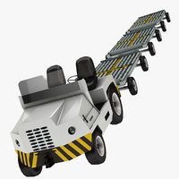 3D airport baggage truck 2