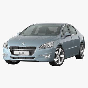 peugeot 508 2013 blue model