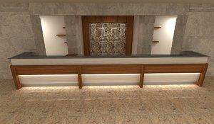 hotel counter 3D model