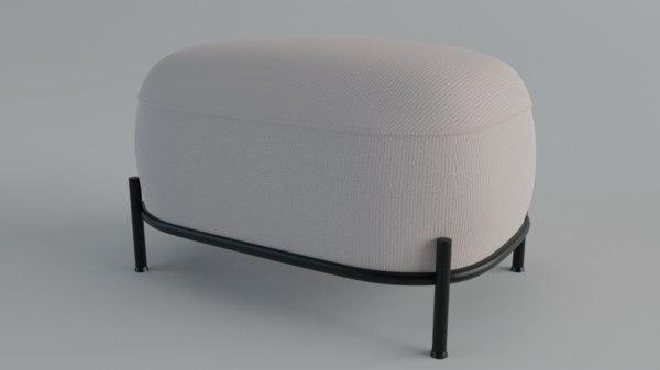chairspuf sklum omba 3D