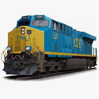 3D locomotive ge es44ac csx