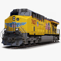 locomotive ge es44ac union pacific 3D model