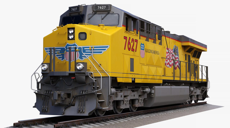 locomotive ge es44ac union pacific 3D model