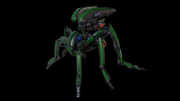 3D model animation metallic