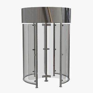turnstile access sas 3D