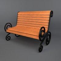 3D bench ready props model