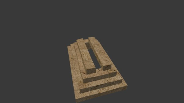 3D model egyptian structure tomb