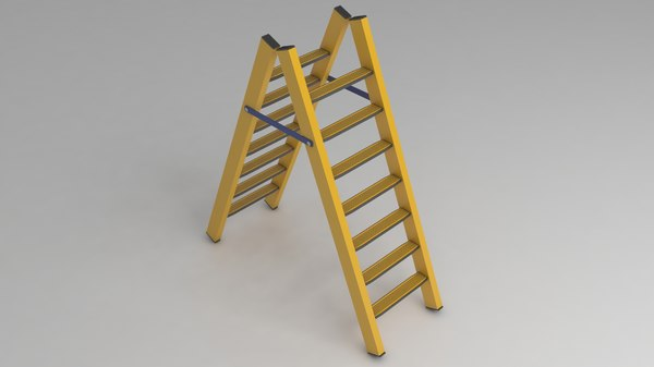 ladder work stairs 3D