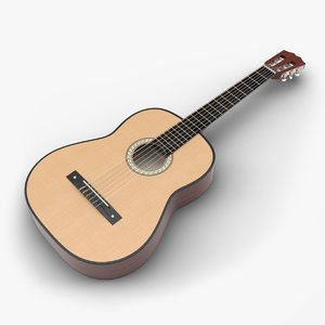 3D classical guitar model