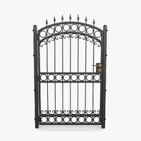 3D wrought iron gate 07 model