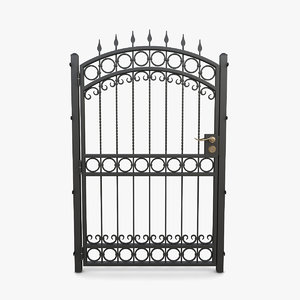 3D wrought iron gate 07 model