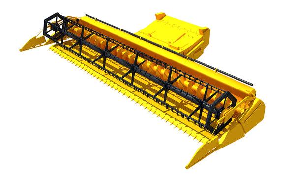 combine threshing machine 3D model